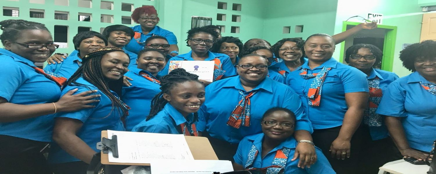 <strong>TOBAGO MISSION CHOIR</strong>  	            <br/>Awarded 1st Place for the church choirs category at the National Music Festival 2018
