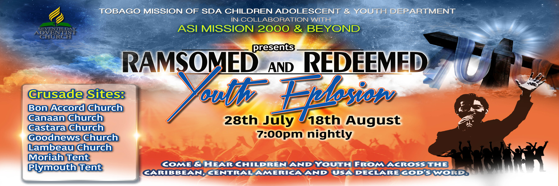 <strong>YOUTH EXPLOSION</strong>              <br/>Ransomed and Redeemed